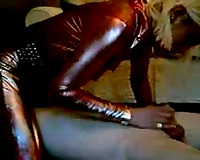I and my ally clothed our wives in latex dress and screwed 'em