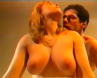 Curvy and breasty redhead topless honey blows dong in 69 style
