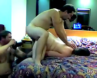 My cuckold hubby rubs my clit whilst his buddy bonks my slit unfathomable