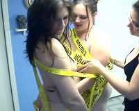 Two fluffy lesbian babes get bound up jointly by their perverted femdom-goddess