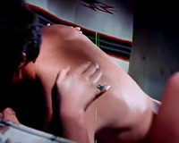 Retro porn compilation with light-haired diva and black-haired hoochie