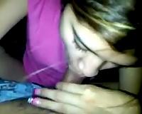Nepali dilettante hot babe gives carnal head on webcam