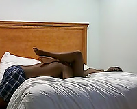 Licking and fucking my swarthy college girlfriend in my couch