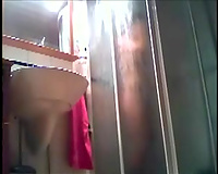 Hidden livecam clip with my skinny ex GF taking a shower