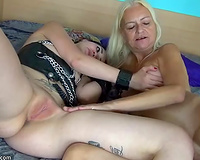 Horny granny is greater amount than willing to have some joy with recent meat