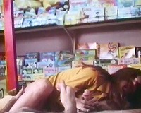 Kinky stud eats smelly love tunnels of freaky gals in the shop