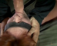 Fugly white whore desirous to be drilled by 2 fierce dudes