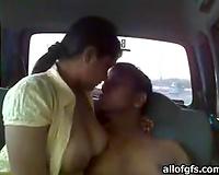 Plump busty Indian hooker jacks off my friend's schlong in car