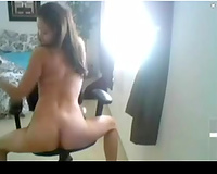Chinese web camera legal age teenager shows me off her diminutive meatballs and a-hole
