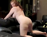 Seducing my appetizing white amateur wife for a quickie on the ottoman
