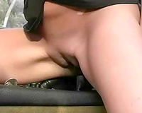Filthy coed from college masturbated in my car riding a gearbox