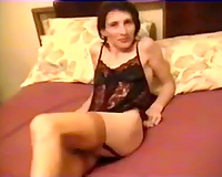 Amateur dark brown girl in hawt underware in our daybed on livecam