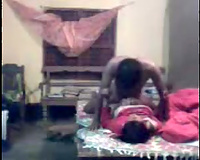 Super black skinned dilettante Indian hubby drills wifey missionary
