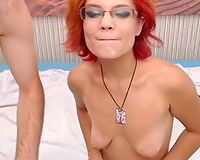 Pink haired nerdy and ordinary looking livecam floozy sucked her fellow