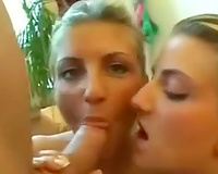 Blond haired wild non-professional GF of my ally sucks his dick and enjoys doggy