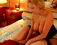 Busty redhead milf wants to eat her blonde wife friend's wet crack