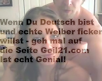 I cum on cute face of my concupiscent German girlfriend