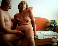Mature white chubby pair having sex on webcam daytime