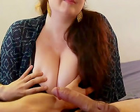 Just super hawt brunette hair chubby babe was blowing my buddy like a real guru