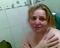 Amateur shy corpulent golden-haired wife and her paramour were caught on web camera