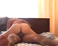 Natural dark haired dirty slut wife of my buddy jumps on his prick on top