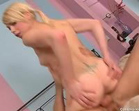 Orgasm lust blonde rides her lover's knob in cowgirl position