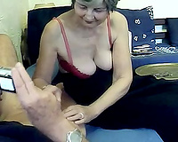 Sexy aged woman engulfing my knob deepthroat craving for goo in her face hole