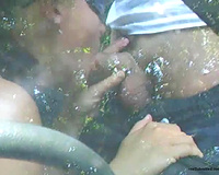 Dude gratifying his raunchy fetish with his girlfriend outdoors