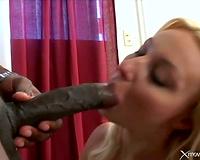 Black weenie discharges a hawt creampie into white whore