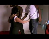 Entertaining 2 blacks whilst cuckold spouse stands by and films