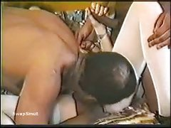 Amateur White Wife is Fucked by Two Blacks Interracial Home Porn