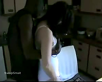 Black haired horny white wife and her BBC paramour cuckold interracial non-professional porn