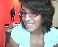 Curvaceous dark brown student playgirl gives me disrobe dance on web camera