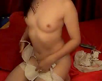 Seductive livecam whore showing her fuck holes in teasing positions