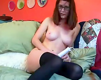 Cute redhead hot honey with large titties talking obscene on cam