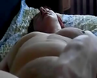 Lusty plump aged dirty slut wife pets her shaggy bawdy cleft with marital-device