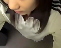 Naughty Japanese gal gives astounding oral pleasure to her paramour
