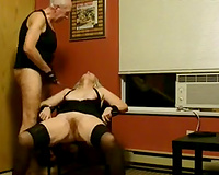 Whorish light-haired granny receives nailed by slutty old fart