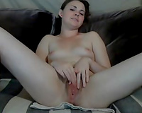 Anal fingering of a tiny pale skin hottie on web camera