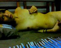 Just a slender Asian dark brown doxy on webcam masturbating