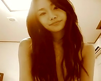 Asian GF sucks and rides my shaft and lets me cum in her bushy vag
