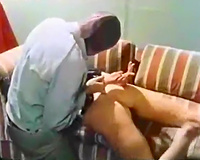 Dirty and natural vintage porn babe fucking unshaved men with moustaches