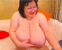 Super wicked older woman with large bazookas and her solo session for u to enjoy