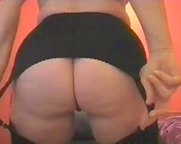 Lustful mother I'd like to fuck with big boobs and chunky butt flashes her privates on webcam