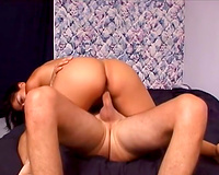 Cute natural dark head sucked wang in advance of a great dong ride session