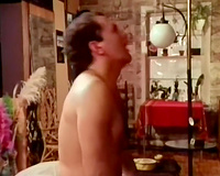 Bootylicious vintage golden-haired floozy engulfing and fucking
