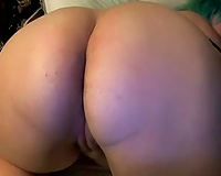 My nasty chubby wifey brags of her fantastic throat watering bum