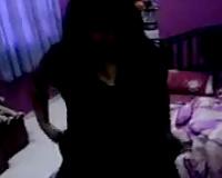 Voracious dark skin weenie paramour gives me head in her impure bedroom