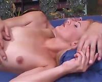 Slutty blond receives a large facial jizz flow after superb anal sex