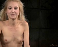 Titless blond with puffy nipps is fixed and mouthfucked actually hard